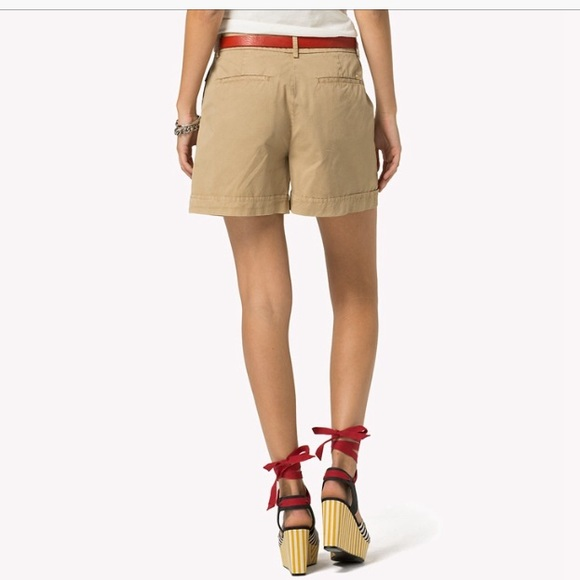 High Waist Linen Shorts - Sales Up to -50% Tommy Hilfiger ehJsfaQ